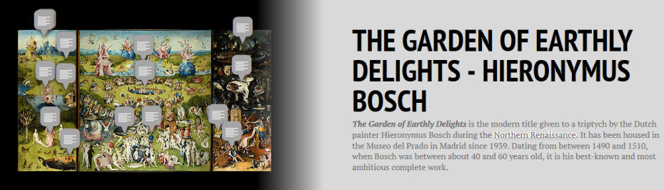 StoryMap The Garden of Earthly Delights