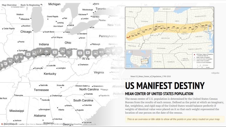 StoryMap US Manifest Destiny